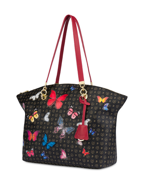 Heritage Butterfly Collection tote bag BLACK/RED
