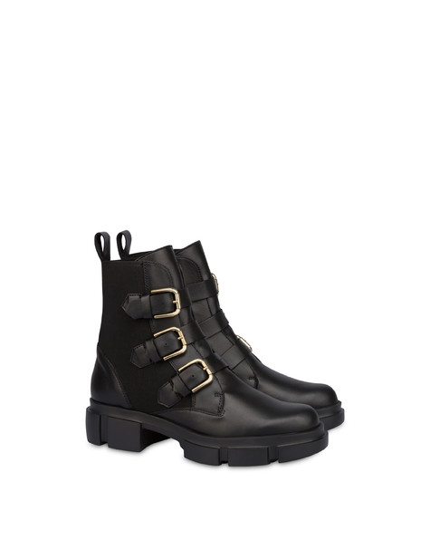 Combat boot in Vienna calfskin BLACK