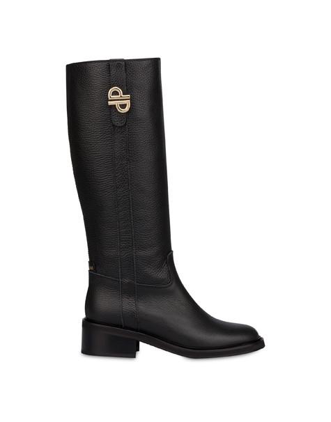 Twin P calfskin boots BLACK