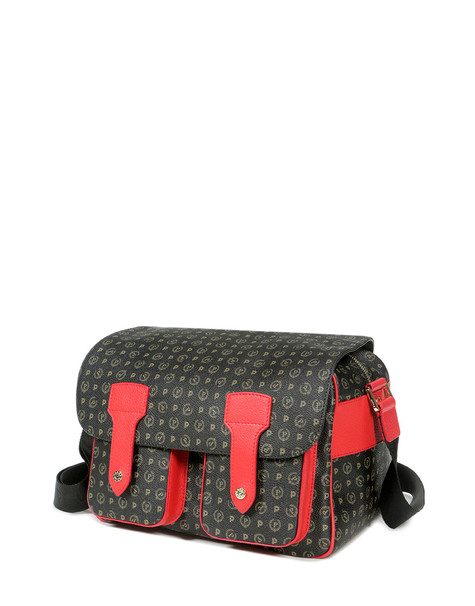 Messenger bag Black/laky red