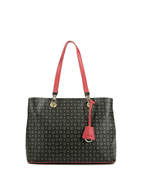Shopping bag Black/laky red