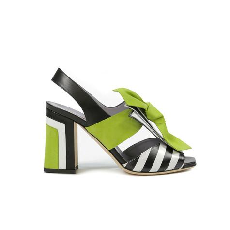 Sandali Nero-bianco/nero/bianco/pistillo