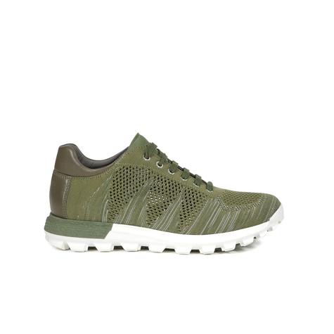 Sneakers Militare-verde-bianco