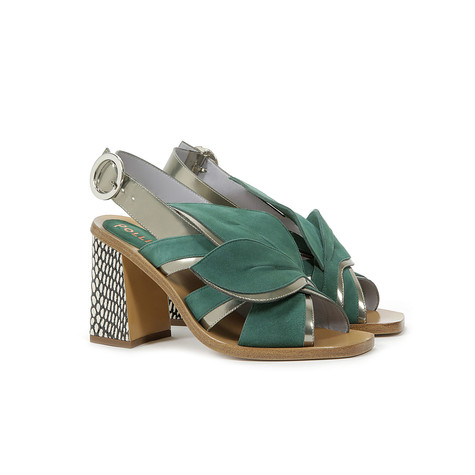 Sandali Verde/acciaio/osso-nero