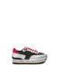 Sneakers Black/silver/fuchsia