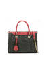 Shopping bag Black/laky red