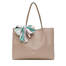 Shopping bag Taupe/blue