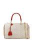 Boston bag Ivory/laky red