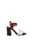 Sandals Black/laky red/platinum