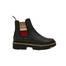 Ankle boots Black/beige-burgundy
