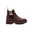 Ankle boots Burgundy/beige-black