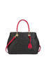 Hobo bag Black/laky red
