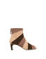 Majolica suede ankle boots Nude/brick/coffee