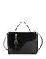 Buckle Notes calfskin handbag Black/black/black