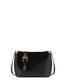 Buckle Notes calfskin shoulder bag Black/black/black