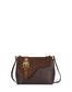 Buckle Notes calfskin shoulder bag Chocolate/chocolate/hide
