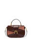 Patchwork handbag in suede and Cabiria Buckle calfskin Chocolate/chocolate/brown