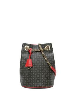 Bucket bag Black/laky red