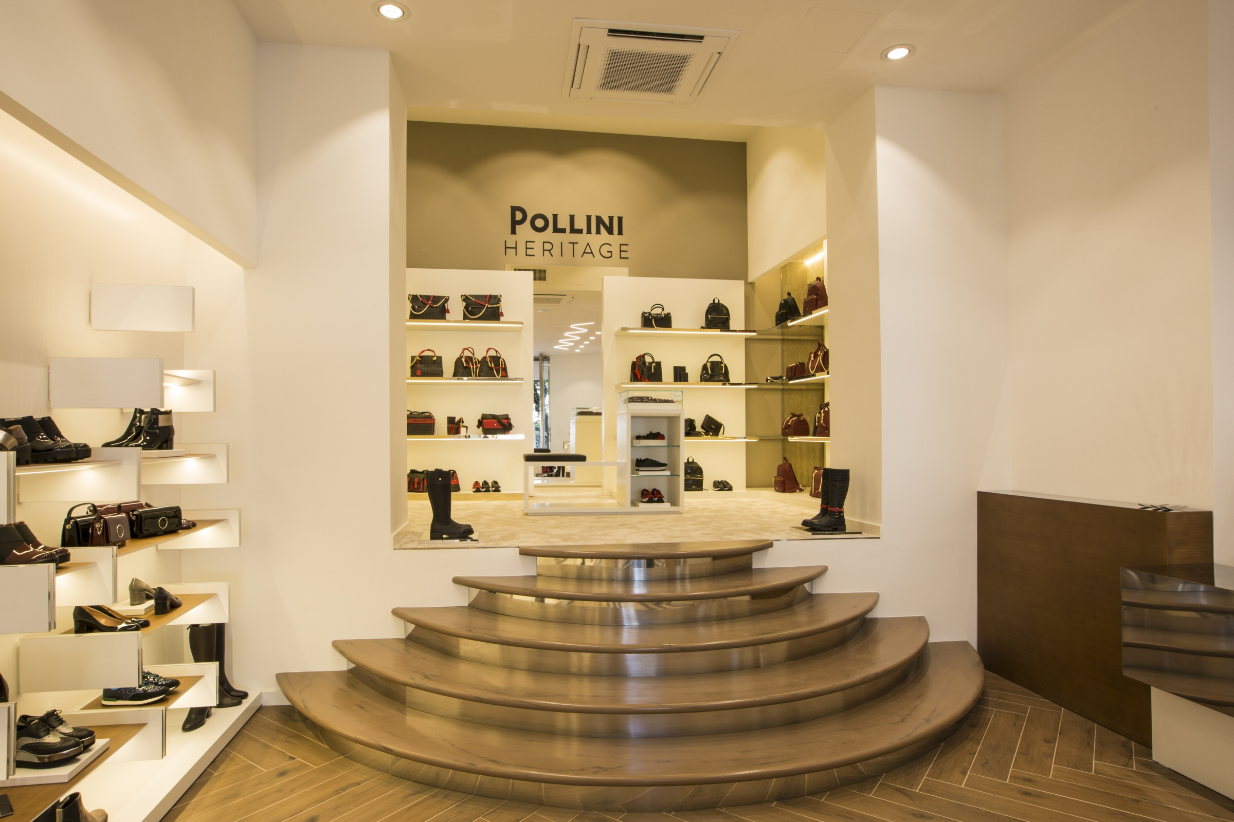 6f1f832bd0 ... Via Cola di Rienzo will be the first to have an exclusive area  dedicated to the Heritage collection, inspired by the iconic Pollini  monogram ...